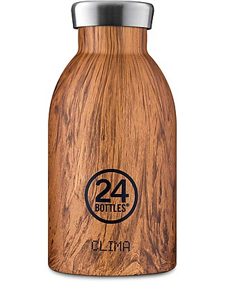24Bottles Borraccia Termica Clima in Acciaio Inox, 330 ml - Sequoia Wood Borracce Metallo