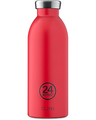 24Bottles Borraccia Termica Clima in Acciaio Inox, 500 ml - Hot Red Borracce Termiche