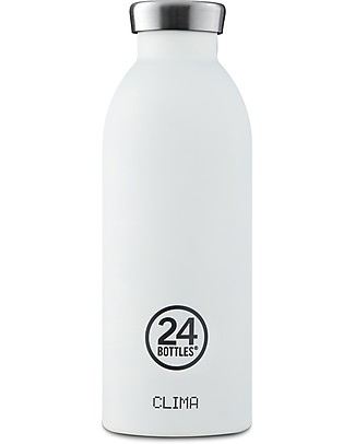 24Bottles Borraccia Termica Clima in Acciaio Inox, 500 ml - Ice White Borracce Metallo