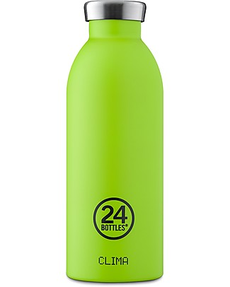 24Bottles Borraccia Termica Clima in Acciaio Inox, 500 ml - Lime Borracce Metallo