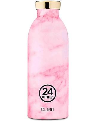 24Bottles Borraccia Termica Clima in Acciaio Inox, 500 ml - Pink Marble Borracce Metallo