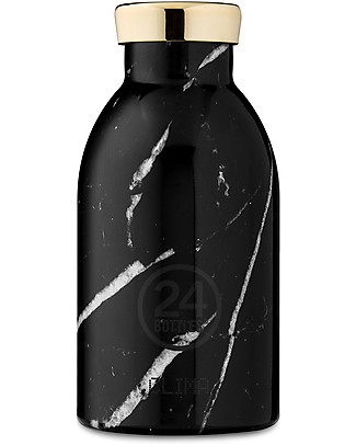 24Bottles Borraccia Termica Clima per Bambini, 330 ml - Marble Black Borracce Metallo