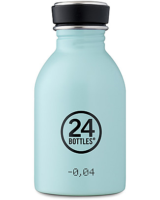 24Bottles Borraccia Urban in Acciaio Inox, 250 ml - Cloud Blue Borracce Metallo