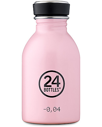 24Bottles Borraccia Urban per Bambini, 250 ml - Candy Pink Borracce Metallo