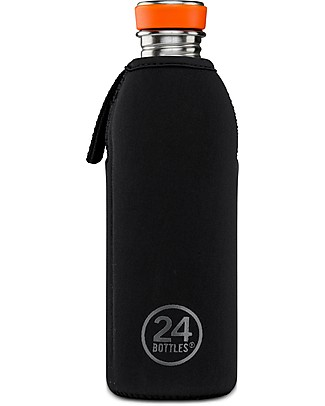 24Bottles Cover Termica in Neoprene, per Borraccia Urban da 500 ml - Black Borracce Termiche