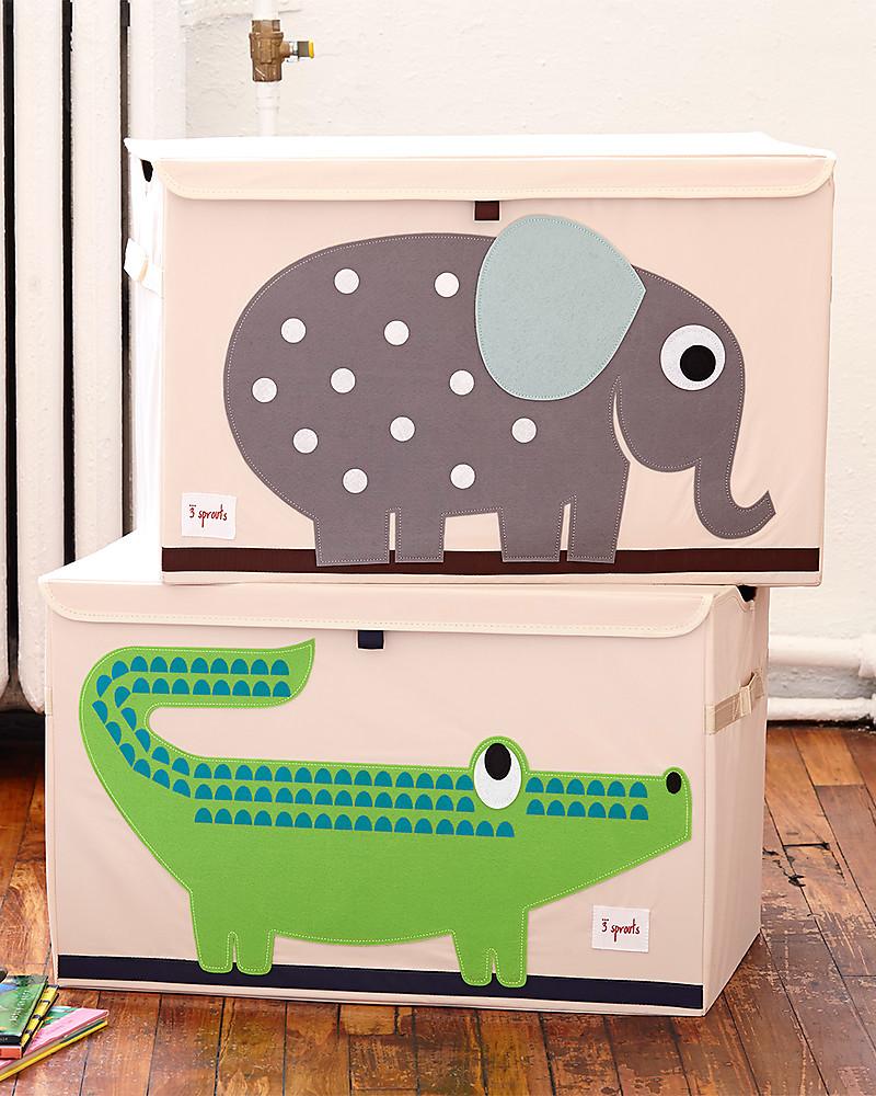 3 sprouts baule portagiochi coccodrillo riordina la for Mobili portagiochi per bambini
