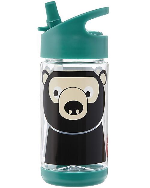 3 Sprouts Borraccia con Cannuccia di Silicone - Orso - 350 ml - senza BPA e ftalati Borracce senza BPA
