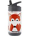 3 Sprouts Borraccia con Cannuccia di Silicone - Volpe - 350 ml - senza BPA e ftalati Borracce senza BPA