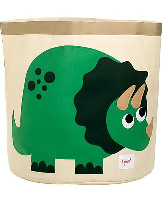 3 Sprouts Cesto Portatutto - Dinosauro - 100% Cotone Contenitori Porta Giochi