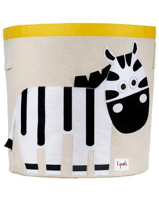 3 Sprouts Cesto Portatutto - Zebra - 100% Cotone Contenitori Porta Giochi