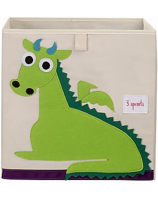 3 Sprouts Contenitore Portaoggetti - Drago - Compatibile con Scaffali Ikea! Contenitori Porta Giochi