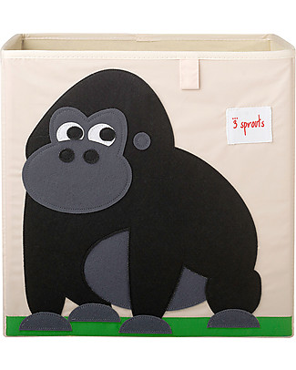 3 Sprouts Contenitore Portaoggetti - Gorilla - Compatibile con scaffali Ikea Kallax! Contenitori Porta Giochi
