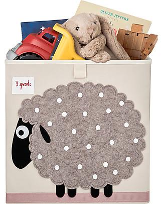 3 Sprouts Contenitore Portaoggetti - Pecora - Compatibile con scaffali Ikea! Contenitori Porta Giochi