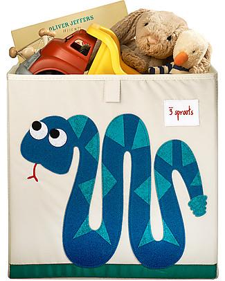 3 Sprouts Contenitore Portaoggetti - Serpente - Compatibile con Scaffali Ikea! Contenitori Porta Giochi