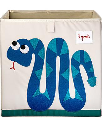 3 Sprouts Contenitore Portaoggetti - Serpente - Compatibile con Scaffali Ikea Kallax! Contenitori Porta Giochi
