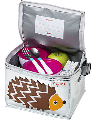 3 Sprouts Insulated Lunch Box - Hedgehog Lunch Boxes