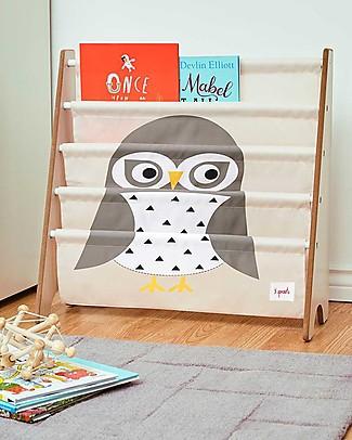 3 Sprouts Libreria Frontale Montessoriana per Bambini - Gufo Grigio Librerie