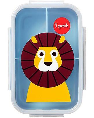 3 Sprouts Porta Pranzo Bento, 3 Scomparti - Leone Blu Contenitori Latte e Snack