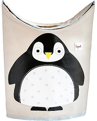 3 Sprouts Portabiancheria Pinguino - Ordine, pulizia e colore! Contenitori Porta Giochi