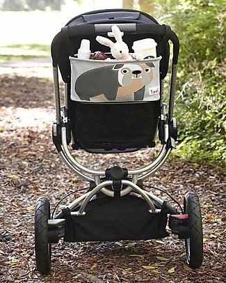 3 Sprouts Portaoggetti per Passeggino - Bulldog - Si adatta a qualunque passeggino! Accessori