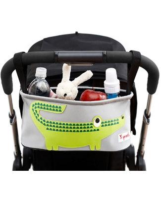 3 Sprouts Portaoggetti per Passeggino - Coccodrillo - Si adatta a qualunque passeggino! Accessori