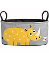 3 Sprouts Portaoggetti per Passeggino - Rinoceronte - Si adatta a qualunque passeggino! Accessori
