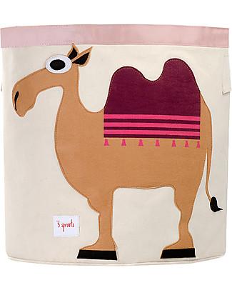 3 Sprouts Storage Bin - Camel - 100% Cotton Toy Storage Boxes