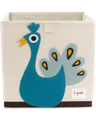 3 Sprouts Storage Box - Peacock - Suitable for Ikea Kallax Shelving Units! Toy Storage Boxes