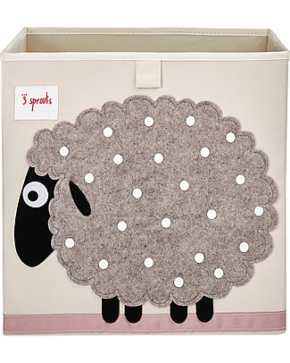 3 Sprouts Storage Box - Sheep - Suitable for Ikea shelving units! Toy Storage Boxes
