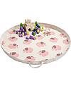 3 Sprouts Tappeto Gioco e Borsa  2-in-1 in Tela di Cotone 100%, Elefante - 112 cm diametro Contenitori Porta Giochi