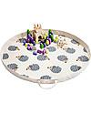 3 Sprouts Tappeto Gioco e Borsa  2-in-1 in Tela di Cotone 100%, Riccio - 112 cm diametro Contenitori Porta Giochi