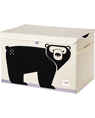 3 Sprouts Toy Chest - Bear -  Clean the Bedroom with Imagination Toy Storage Boxes