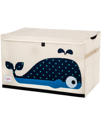 3 Sprouts Toy Chest - Whale - Clean the Bedroom with Imagination Toy Storage Boxes