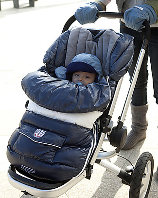 7AMenfant Sacco Passeggino Baby Shield Midnight Blue -  Copertura Modulabile  Sacchi Passeggino