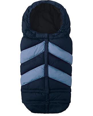 7AMenfant Sacco Passeggino Blanket 212 - Universale da 0-4 anni-  Chevron Blu  Sacchi Passeggino