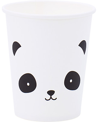 A Little Lovely Company 12 Bicchieri di Carta per Feste - Panda null