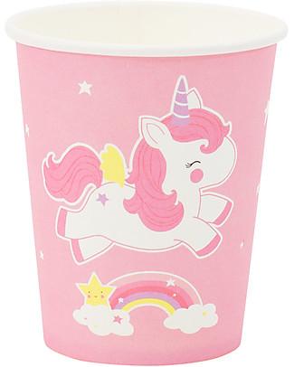 A Little Lovely Company 12 Bicchieri di Carta per Feste - Unicorno null