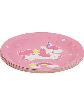 A Little Lovely Company 12 Piatti di Carta per Feste - Unicorni Piatti e Scodelle