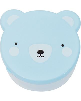 A Little Lovely Company 4 Porta Pranzo Orso - Celeste - Senza BPA o ftalati null