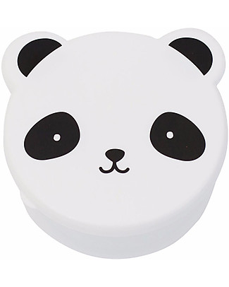 A Little Lovely Company 4 Porta Pranzo Panda - Bianco/Nero - Senza BPA o ftalati null