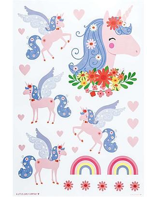 A Little Lovely Company Adesivi da Parete, Unicorni - 23 Adesivi Adesivi Da Parete