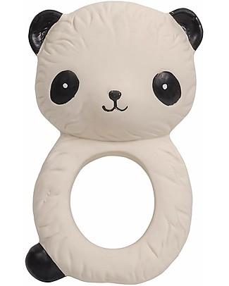 A Little Lovely Company Anello da Dentizione, Panda Bianco - 100% Gomma Naturale Massaggiagengive