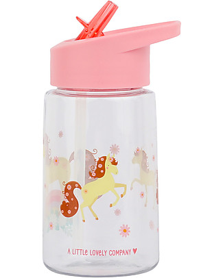A Little Lovely Company Borraccia da Decorare con Sticker, 400 ml - Cavallo null