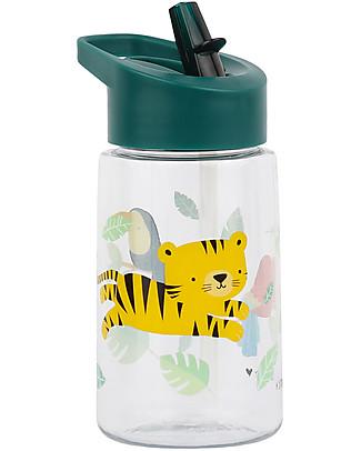 A Little Lovely Company Borraccia da Decorare con Sticker, 400 ml - Tigre Borracce Termiche