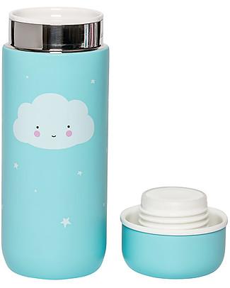 A Little Lovely Company Borraccia Termica in Acciaio Inossidabile, 200 ml - Nuvoletta Borracce Termiche