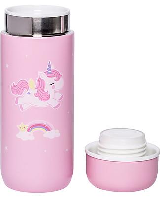 A Little Lovely Company Borraccia Termica in Acciaio Inossidabile, 200 ml - Unicorno Borracce Termiche