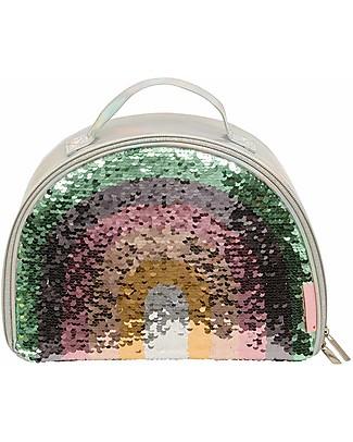 A Little Lovely Company Borsa Pranzo Termica, Arcobaleno Glitter - Grigio Borse Pic Nic