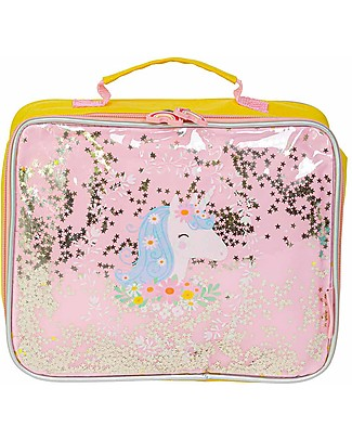 A Little Lovely Company Borsa Pranzo Termica, Glitter - Unicorno Borse Pic Nic
