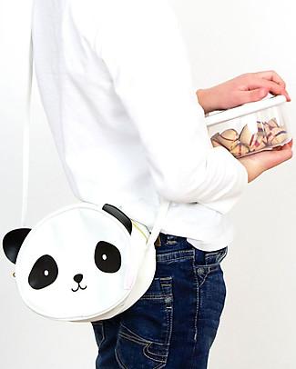 A Little Lovely Company Borsa Tracolla, Panda - Bianco e Nero Borse Tracolla