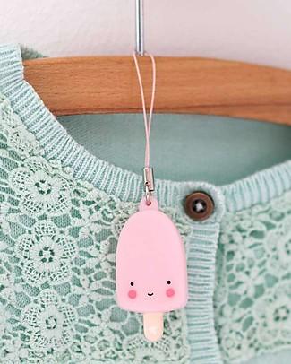 A Little Lovely Company Ciondolo Charm, Gelato Stecco - Rosa Portachiavi